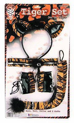 Tiger Damen Erwachsene Niedliche Tier Halloween Kostüm-zubehör Satz (Erwachsenen Tiger Halloween-kostüm)