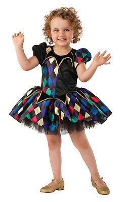 Little Jester Clown Toddler Girls Tutu Dress Halloween Renaissance - Little Girl Clown Costumes