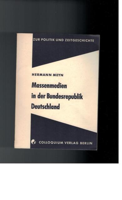 Hermann Meyn - Massenmedien in der Bundesrepublik Deutschland - 1970