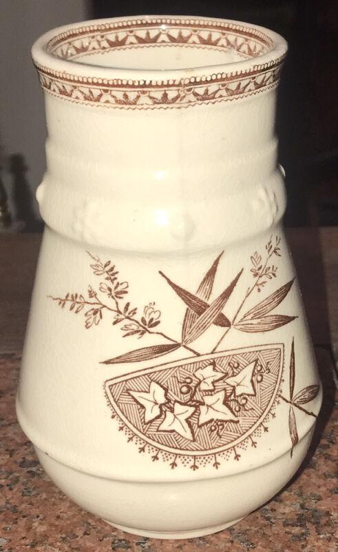 "Antique Aesthetic Movement H Alcock Stratford Cobridge Vase Burner 5.75"" Marked"