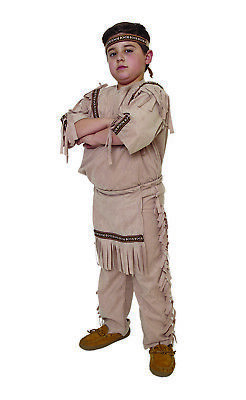Indian Boy Child Native American Warrior Halloween Costume