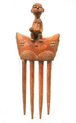 Art African Tribal - Beautiful Comb Baoulé Maternity - Billiards Ball - 25 CMS