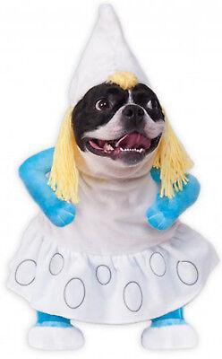 Schlümpfe Film Mädchen Haustier Hund Katze Halloween Kostüm (Schlumpfine Halloween-kostüm)