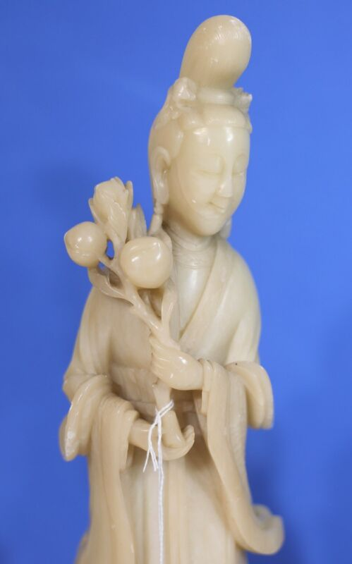 A pair of Vintage Chinese Shoushan stone carvings, 13 inch