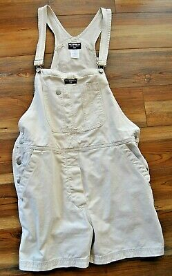 POLO RALPH LAUREN SHORTALLS BIB OVERALLS SHORTS WOMENS SIZE L - BEIGE CARPENTER  Ralph Lauren Polo Shortalls