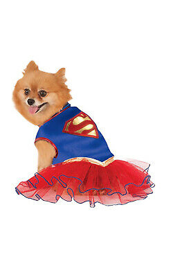Dc Superman Supergirl Haustier Hund Katze Superheld Tütü Kostüm Dress-Xl