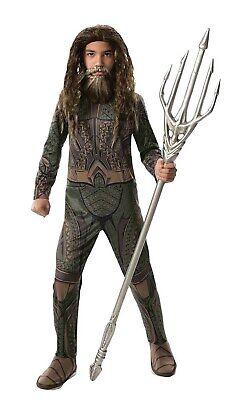 Justice League Boys Aquaman Dc Superhero Childs Halloween Costume - Aquaman Costume Kids
