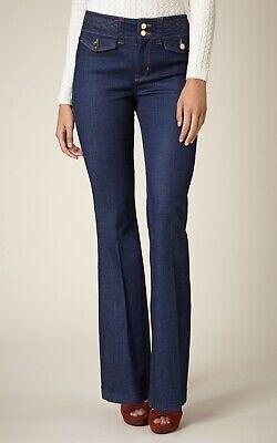 BNWT Karen Millen LTD Edition Atelier Blue Denim Kick Flare Jeans Size UK 12