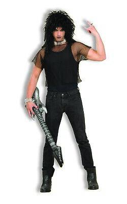 Schwarz Netz Erwachsene Rabe 80er Jahre 90er Jahre Kostüm Rocker - Schwarzen 90er Jahre Kostüm