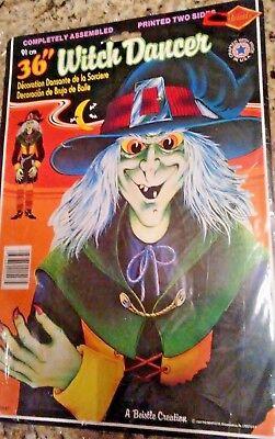 1984 BEISTLE 01547 HALLOWEEN DECORATION WITCH DANCER 2 SIDES 36