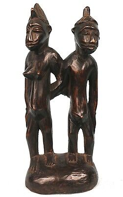 Art African Arts Premiers - Antique Couple Fetishes Senoufo - 26,5 Cm