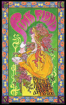 Pink Floyd At Marquee  London Wi 1966 Bob Masse 14 X 23 Inch Rock Concert Poster