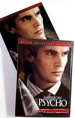 AMERICAN PSYCHO ~ DVD COLLECTOR'S EDITION UNRATED SLASHER SERIAL KILLER HORROR - Psycho Serial Killer Movies