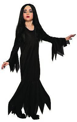 Miss Terious Mädchen Kind Vampir Morticia Addams Halloween - Kind Morticia Kostüm
