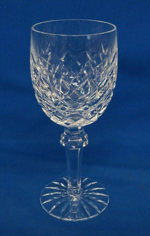 "Vintage Waterford Crystal Powerscourt Pattern 7 1/2"" Water Goblets, Signed"