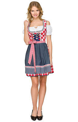 Dirndl German Austrian Bavarian Dress Oktoberfest Beer Girl Costume Halloween  (Halloween Dirndl Dress)