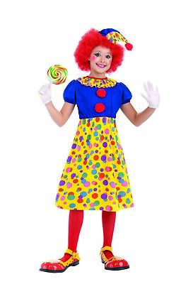 Clown Girl Child Circus Funny Jester Halloween Costume](Girls Clown Halloween Costumes)