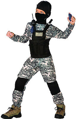 Special Forces Child Halloween Costume (Navy Seal Camo Boys Child Special Forces Halloween)