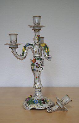 Pottschappel Prunk Kerzenständer Leuchter zum restaurieren 39 cm