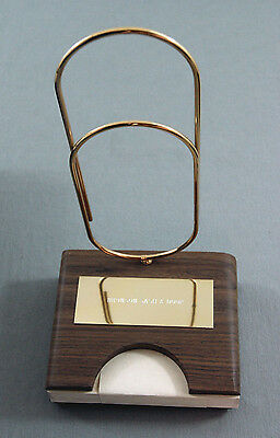 Vintage 1980 Brown And Bigelow Paper Clip Astramatic Pen And Paper Holder