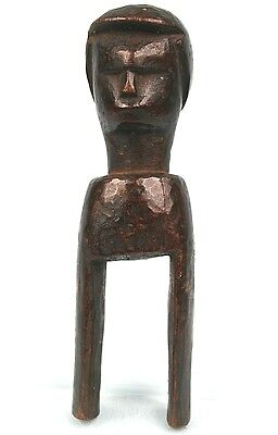 Art African - Very Antique Caliper Pulley of Occupation in Loom Baoulé