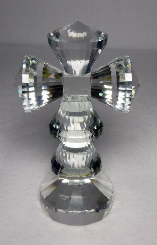 """OLEG CASSINI Crystal CROSS Figurine Paperweight - 6"""""""