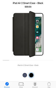 Apple iPad Air 2 Smart Case Black Leather Genuine