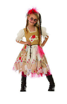 Creepy Voodoo Rag Doll Girls Patchwork Scary Halloween - Scary Costumes For Girls For Halloween