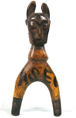 Art African - Antique Sling Baoulé Zoomorphic - Equipe Football Asec Mimosas