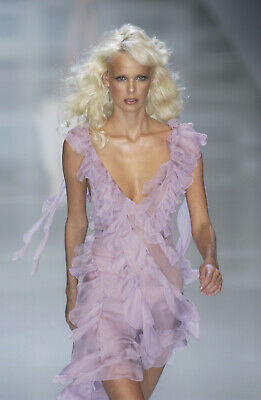 Versace SS 2004 Gossamer Lavender Dress
