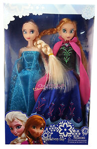 Disney-Frozen-Princess-Elsa-Anna-12-Doll-Figures-Set-Birthday-Gift-Playset