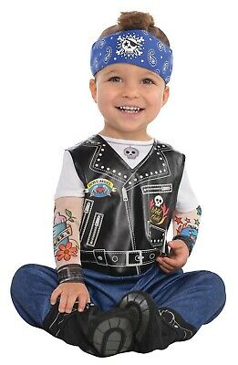 Baby Biker Boys Infant Cute Tough Guy Halloween Costume