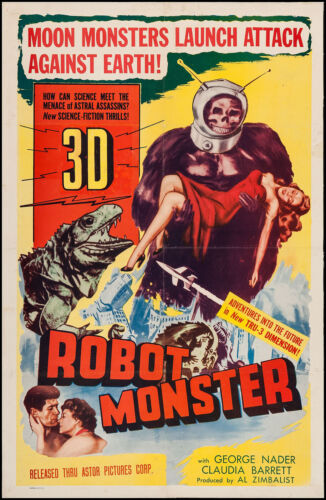 ROBOT MONSTER [1953] Original One-Sheet Poster F+/6.5 Restored on Linen * RARE *