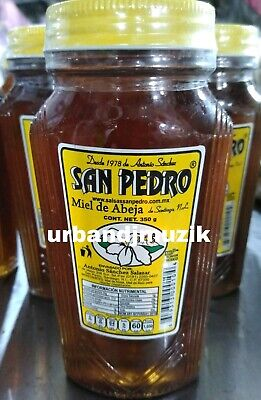 2X SAN PEDRO MIEL DE ABEJA NATURAL BEE HONEY 2 of 12.4oz ea - FREE PRIORITY SHIP