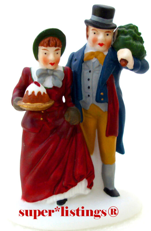 Dept. 56 Christmas Carol Holiday Mr. & Mrs. Bob Cratchit Retired Dickens 58319
