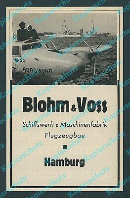 """Blohm & Voss Ha 139 """"Nordwind"""" Lufthansa DLH Flugkapitän Wilhelm Travemünde 1939"""
