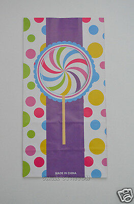 12 Candy Theme Paper Bags Kid Party Gift Goody Loot Treat Favor Supply