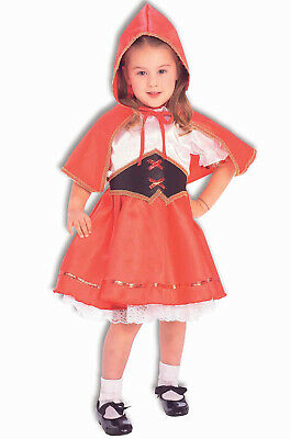 Little Red Riding Hood Girls Deluxe Toddler Fairytale Costume-Todd