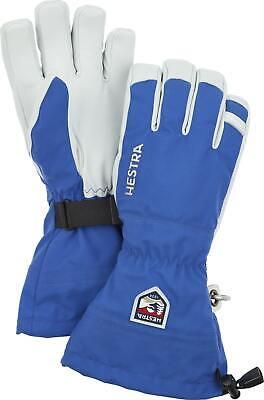 2020 Men's Hestra Army Leather Heli 5 Finger Ski Gloves Size 10 Royal Blue 30570