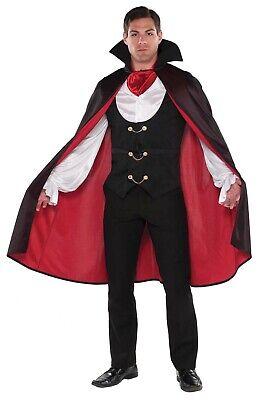 True Vamp Herren Erwachsene Gotik Dracula Vampir Halloween Kostüm ()