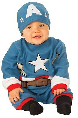 Captain America Baby Halloween Costume (Marvel Classic Captain America Infant Newborn Boys Jumpsuit Halloween)