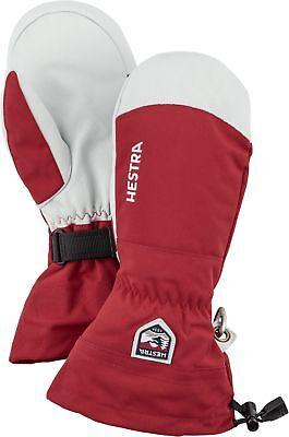 2020 Men's Hestra Army Leather Heli Ski Mitten Mitt Ski Gloves Size 11 Red 30571
