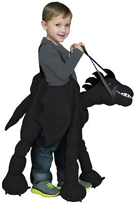 Ride-A-Dragon Black Fairytale Dragon Animal Mount Toddler Halloween Costume