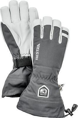 2020 Men's Hestra Army Leather Heli  5 Finger Ski Gloves Size 9 Grey 30570