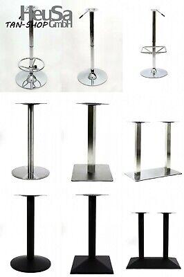 Tischgestell, Tischbein, Tischfuß, höhenverstellbar, Edelstahl, chrom, schwarz