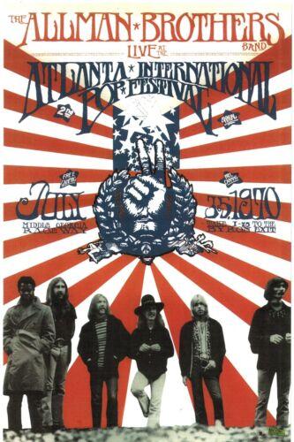 THE ALLMAN BROTHERS BAND 1970 ATLANTA POP FESTIVAL 2003 PROMO POSTER / NM 2 MINT
