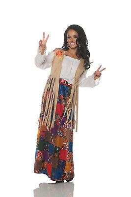 Hippie Fransen Damen Erwachsene 60S Chick Kostüm Zubehör - Veste Kostüm