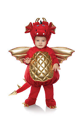 Dragon Boys Toddler Red Belly Baby Plush Mythical Creature Costume