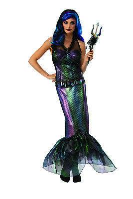 Queen Of Dunkel Meere Damen Erwachsene Böse Meerjungfrau Sirene Halloween - Sirene Kostüm Halloween