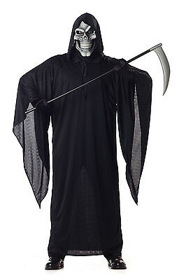 Grim Reaper Scary Skeleton Halloween Costume
